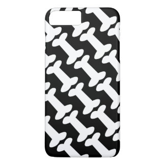 Cute Black and White Dog Bones Pattern iPhone 8 Plus/7 Plus Case