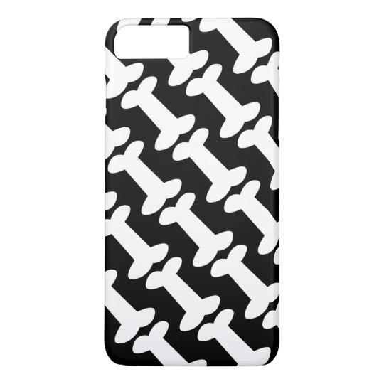 Cute Black and White Dog Bones Pattern iPhone 8 Plus/7 Plus Case