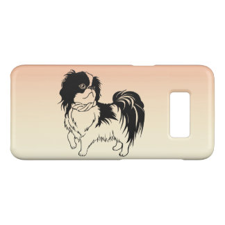 Cute Black and White Dog Orange Galaxy S8 Case