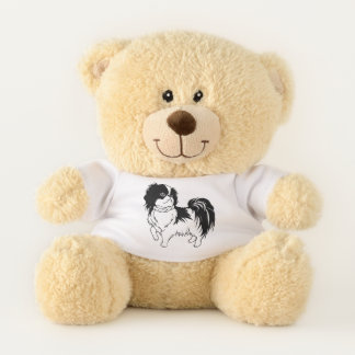 Cute Black and White  Dog Teddy Bear