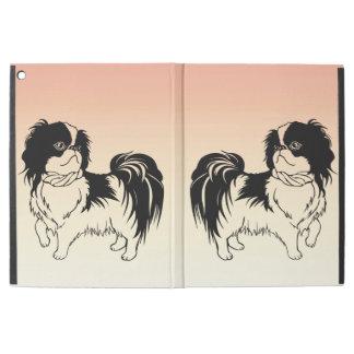 Cute Black and White Dogs on Orange iPad Pro Case