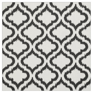 Cute black and white ikat Moroccan pattern Fabric