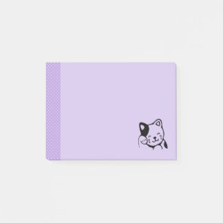 Cute Black and White Kitty Cat Waving Hello Post-it Notes