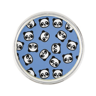 Cute Black and White Panda Cartoon Pattern Lapel Pin