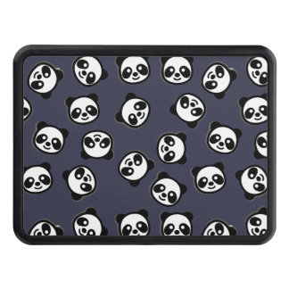 Cute Black and White Panda Cartoon Pattern Trailer Hitch Cover