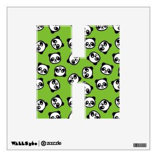Cute Black and White Panda Cartoon Pattern Wall Decal