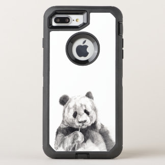 Cute Black and White Panda Illustration OtterBox Defender iPhone 7 Plus Case