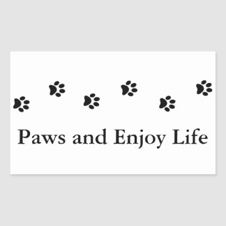 Cute Black and White Paws and Enjoy Life