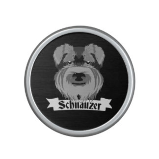 Cute Black and White Schnauzer Bluetooth Speaker