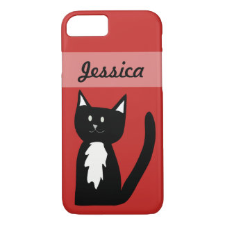 Cute Black and White Tuxedo Cat Customized iPhone 7 Case