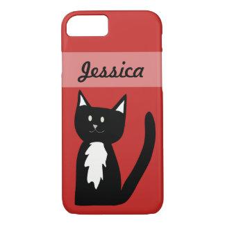 Cute Black and White Tuxedo Cat Customized iPhone 8/7 Case