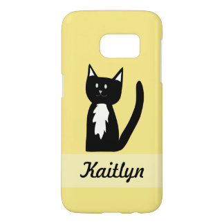 Cute Black and White Tuxedo Cat Customized Samsung Galaxy S7 Case