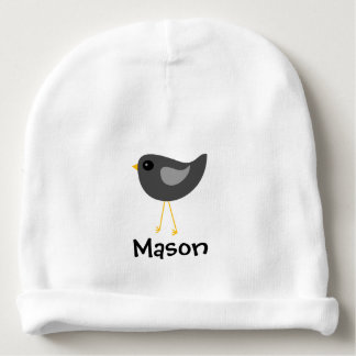 Cute black baby bird infant beanie baby beanie