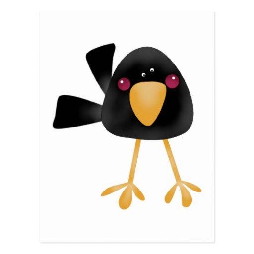Cute Black Baby Crow Postcards