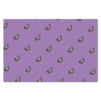 Cute black bird purple tissue paper