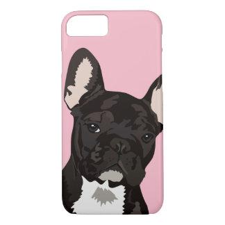 Cute Black Brindle French Bulldog Pet Case-Mate iPhone Case