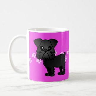 Cute Black Brussels Griffon Cartoon Coffee Mug