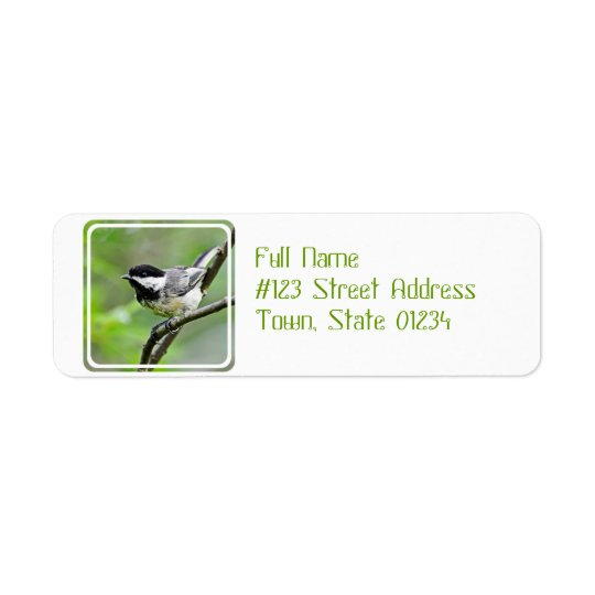 Cute Black Capped Chickadee Return Address Label