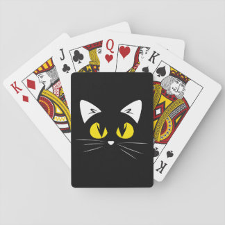 Cute Black Cat Halloween Playing Cards