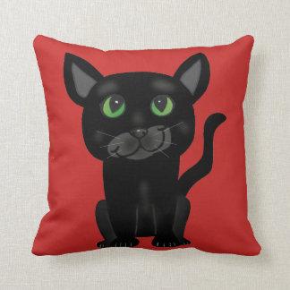 Cute Black Cat Pillow