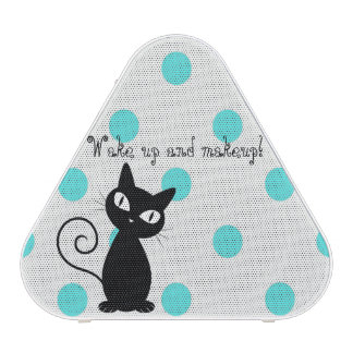 Cute Black Cat,Polka Dots-Wake up and makeup! Blueooth Speaker