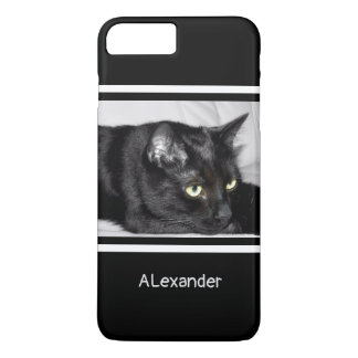 Cute Black Cat Portrait iPhone 8 Plus/7 Plus Case