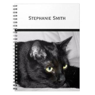 Cute Black Cat Portrait Notebooks