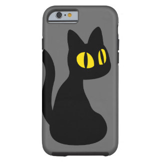 Cute Black Cat Tough iPhone 6 Case