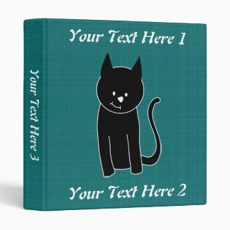 Cute Black Cat Vinyl Binders
