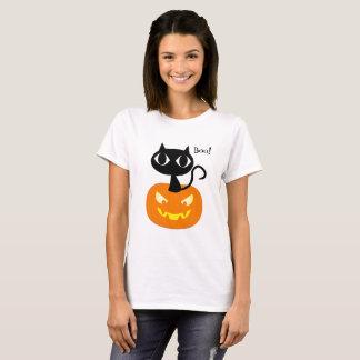 Cute Black Cat with Pumpkin Halloween Shirt