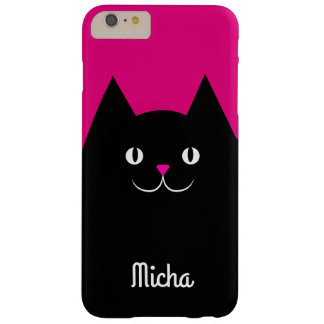 Cute Black Cat With Your Kitten's Name Barely There iPhone 6 Plus Case