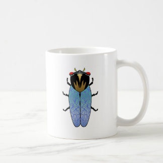 Cute Black Cicada Coffee Mug