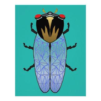 Cute Black Cicada Letterhead