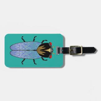 Cute Black Cicada Luggage Tag