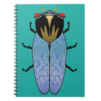 Cute Black Cicada Notebook