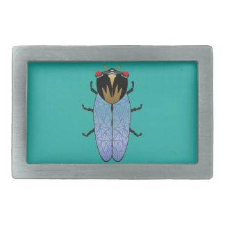 Cute Black Cicada Rectangular Belt Buckle