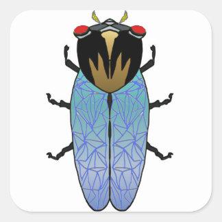 Cute Black Cicada Square Sticker