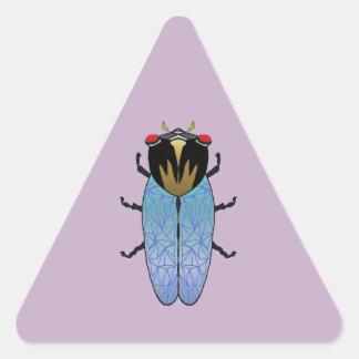 Cute Black Cicada Triangle Sticker