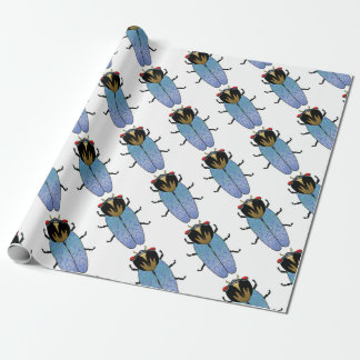 Cute Black Cicada Wrapping Paper