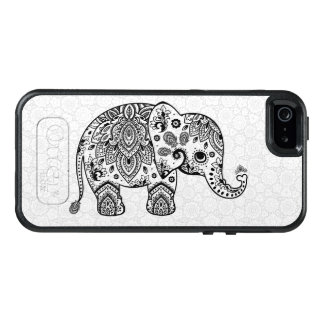 Cute Black Elephant Vintage Paisley Illustration OtterBox iPhone 5/5s/SE Case