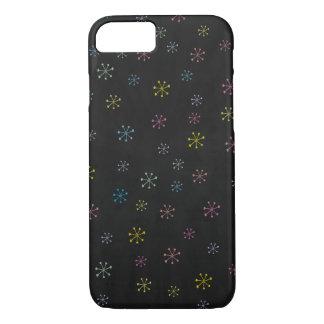 Cute black Flower Doodle Pattern iPhone 8/7 Case