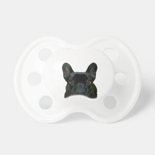 Cute Black French Bulldog Baby Pacifier