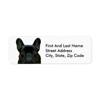 Cute Black French Bulldog Return Address Label