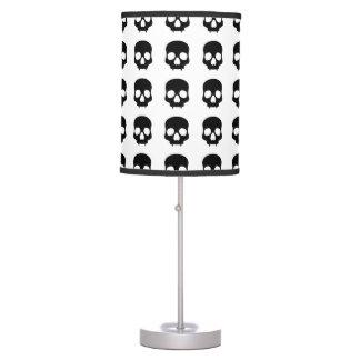 Cute black gothic skulls table lamp