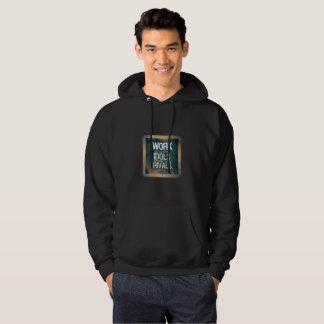 Cute black hoodie : HARD WORK (motivation)