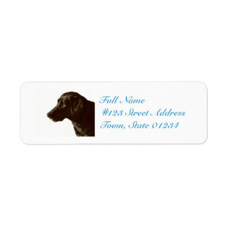 Cute Black Lab Return Address Label