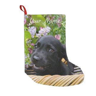 Cute Black Labrador Retriever Dog Puppy Pet - Name Small Christmas Stocking