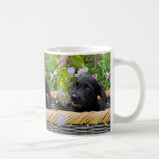 Cute Black Labrador Retriever Dog Puppy Pet Photo Coffee Mug