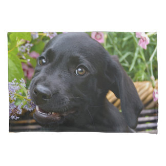 Cute Black Labrador Retriever Dog Puppy Pet Photo Pillowcase