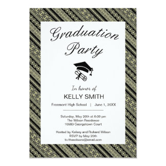 Cute black olive ukraine ornament graduation party card